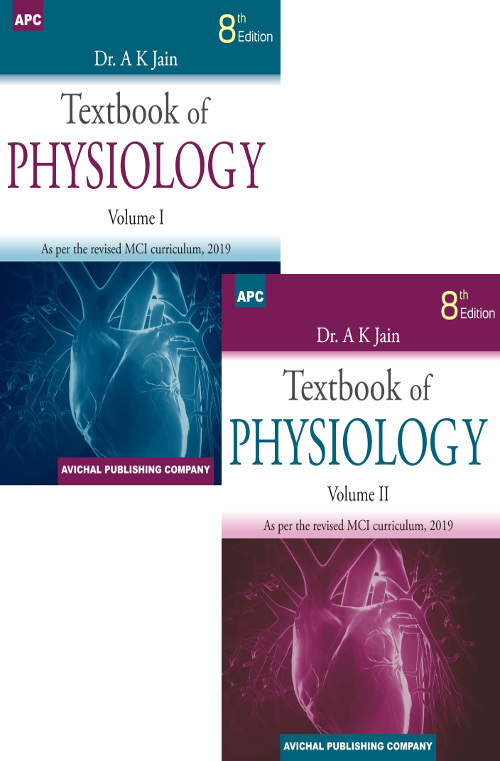 Textbook of Physiology (Volumes I and II) by Dr  A K  Jain